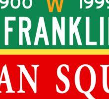 Benjamin Franklin Parkway/Logan Square, Philadelphia Street Sign, PA Sticker