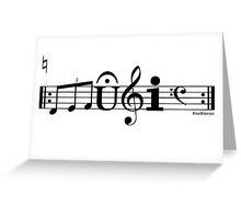 Music Cool Font Greeting Card