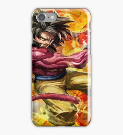 sangoku super sayan 4 iPhone Case/Skin
