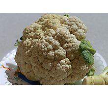 Blue-Ribbon Cauliflower Photographic Print