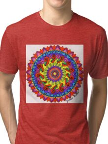 Unity Mandala by Julia Delia Tri-blend T-Shirt