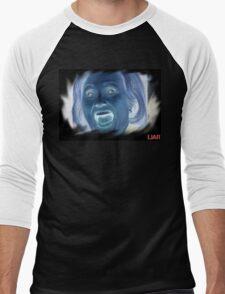 Hilary Clinton negative crazy face Men's Baseball ¾ T-Shirt