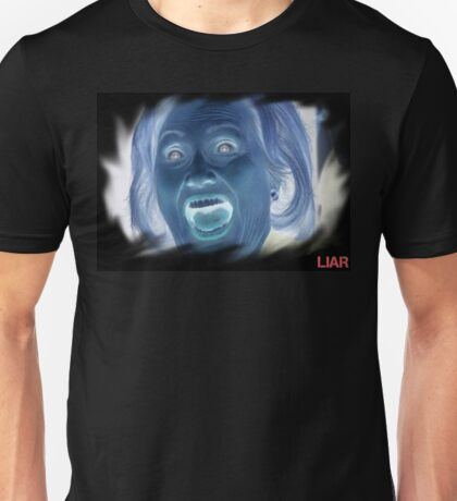 Hilary Clinton negative crazy face Unisex T-Shirt