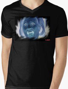 Hilary Clinton negative crazy face Mens V-Neck T-Shirt