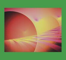 Pink Sun Rays One Piece - Short Sleeve
