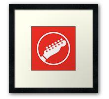 Headstock Rock - Rhythm Framed Print