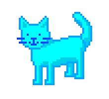 pixel cat Photographic Print