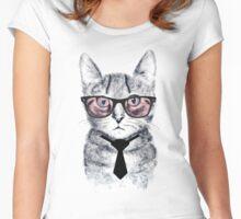 Panka's Smart Cat Women's Fitted Scoop T-Shirt