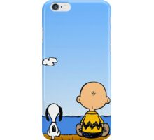 Snoopy And Charlie Brown Graphic T-Shirts iPhone Case/Skin