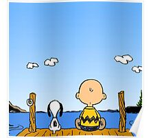 Snoopy And Charlie Brown Graphic T-Shirts Poster