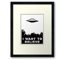 I Want To Believe (retro) Framed Print