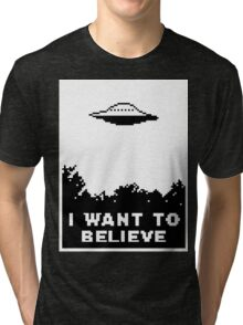 I Want To Believe (retro) Tri-blend T-Shirt