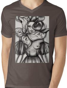 Girl with Butterfly Mens V-Neck T-Shirt
