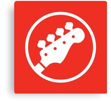 Headstock Rock - Bass Canvas Print