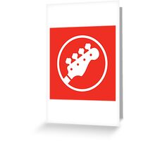 Headstock Rock - Bass Greeting Card