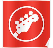 Headstock Rock - Bass Poster