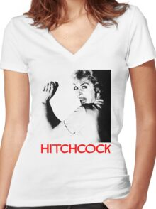 ALFRED HITCHCOCK - JANET LEIGH Women's Fitted V-Neck T-Shirt