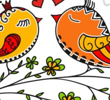 LOVE BIRDS, VALENTINE`S DAY, HEARTS, COLOR Sticker