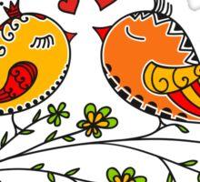 LOVE BIRDS, VALENTINE`S DAY, HEARTS, COLOR Sticker