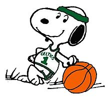 Snoopy basketball Photographic Print