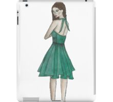 Green Dress Figure iPad Case/Skin