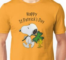 Snoopy Happy Patricks Day Unisex T-Shirt