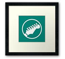 Headstock Rock - Lead Guitar Framed Print