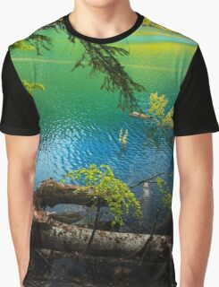 Turquoise Lake - Nature Photography Graphic T-Shirt