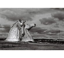 Kelpies against the clouds Photographic Print