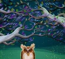 Owl In The Magic Forest Sticker