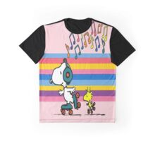 Snoopy And Woodstok Dancing Graphic T-Shirt