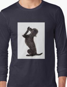 Black Poodle Beg Dog Dogs Long Sleeve T-Shirt