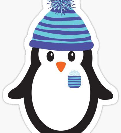 Pocket Snowflake the Penguin Sticker