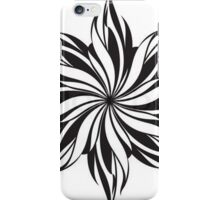 Black And White Floral Design iPhone Case/Skin