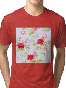 Colorful Flower Floral Design Pattern Tri-blend T-Shirt