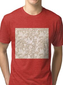 Colorful Flower Floral Design Pattern Tri-blend T-Shirt