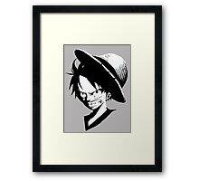 ONE PIECE - ANGRY LUFFY Framed Print