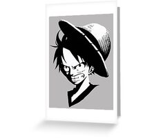 ONE PIECE - ANGRY LUFFY Greeting Card