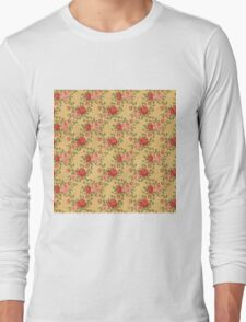 Colorful Flower Floral Design Pattern Long Sleeve T-Shirt