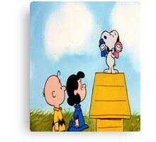 Charlie Brown and Snoopy Tee Graphic Canvas Print