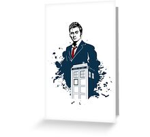 Dr. Who - Doctor Who - 10th Doctor w/ Tardis Greeting Card