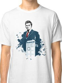 Dr. Who - Doctor Who - 10th Doctor w/ Tardis Classic T-Shirt