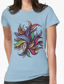 Abstract floral composition. Womens Fitted T-Shirt