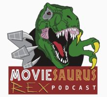 The Moviesaurus Rex Podcast Logo Kids Tee