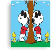 Snoopy Joe Cool Canvas Print