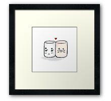 USUK marshmallow  Framed Print