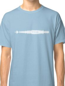 Time Audio Wave (white) Classic T-Shirt