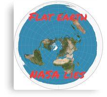 Flat earth reality nasa lies Canvas Print