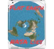 Flat earth reality nasa lies iPad Case/Skin