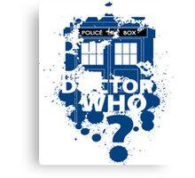 Dr. Who -  Doctor Who? Canvas Print